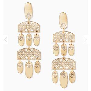 Bold Statement Earrings In Gold Filigree